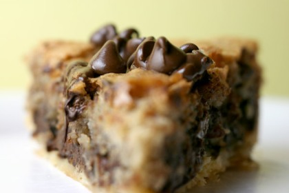 Chocolate Chip Pie. Can you dig it?
