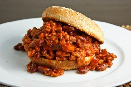 Sloppy Joe (Personally, with beans and cheese!)