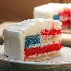 4th of July Sponge Cake