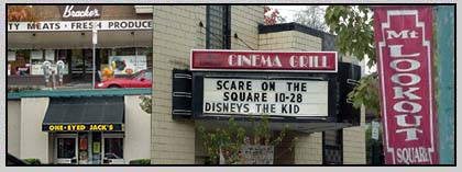 Sign for the Cinema Grill