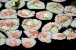 Salmon, cucumber and avacado Sushi