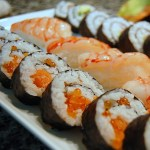 Crab, Shrimp and California Rolls
