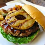 BBQ Turkey Burger with Grilled Pineapple